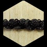 Galon noir à sequins 1.5 cm vendu au mètre GAL030