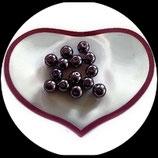 lot de 14 perles de verre limpides nacrées violettes 8 mm création bijoux Réf : 1549