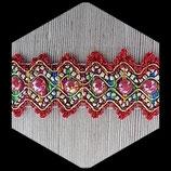 Galon multicolore, demi perles irisées 5 cm GAL021