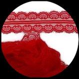 Dentelle polyester rouge  4.5 cm X  10 m. DEN031