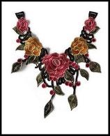 faux col plastron à coudre en dentelle brodé : fleurs, embellissement couture customisation