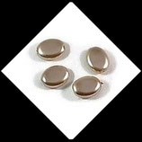Palet ovale nacré 12 x 9 mm beige  X 4 perles palets Réf : 700