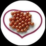 lot de 15 perles nacrées orange 8 mm création bijoux Réf : 1538