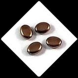 Palet ovale nacré 12 x 9 mm noisette X 4 perles palets Réf : 714