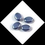 Palet ovale nacré 12 x 9 mm lavande X 4 perles palets Réf : 707