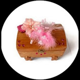coffret à bijoux ancien vintage en bois relooking romantique seconde vie