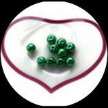 lot de 10 perles nacrées vert 8 mm création bijoux Réf : 1539