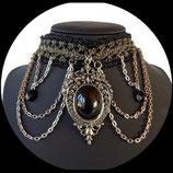 Collier tour de cou gothique victorien pendentif vintage