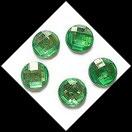 Strass vert rond à coller 16 mm X 5. STR037