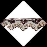 Dentelle ruban organza brodée  sequins marron et or 5 cm X 1 mètre DEN005