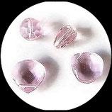 Perles de verre transparente rose assortiment lot de 4 pièces Réf : 1370