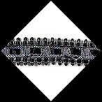 Galon noir et argent, sequins et ruban  3.5 cm GAL075