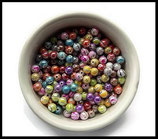perles acryliques multicolores brillantes 8 mm X 50 perles - Lot de 50 perles acryliques pour loisirs créatifs - Réf : 1439