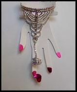Bracelet bague strass chaîne BRA002
