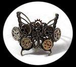 bracelet steampunk papillon, engrenages fait main, modèle unique