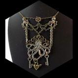 Steampunk  : collier octopus, clé, cadenas, engrenage steampunk fait main - bijou artisanal steampunk