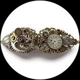 """Steampunk barette cheveux """" l'éventail du temps """" - steampunk montres engrenages."""