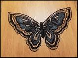 Applique faux col plastron papillon noir FCO019
