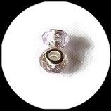 Perle imitation pandora ®  à facettes 15 x 9 mm violet pale à reflets  Réf : 189