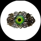 """Bracelet steampunk  """" l'oeil des dragons """" fait main, modèle unique"""