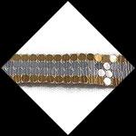 Galon or et argent effet miroir 2 cm. GAL067