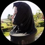Cagoule ou hijab adulte noire motifs strass  pour costume CAG009