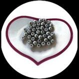 lot de 40 perles nacrées gris 6 mm création bijoux Réf : 1517