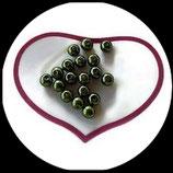 lot de 18 perles nacrées vert 8 mm création bijoux Réf : 1514