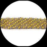bracelet manchette perles de rocaille 3 couleurs  - bracelet rocailles tissées main.