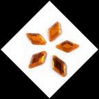 Strass losanges orange à coudre 17 X 24 mm X 10. STR066