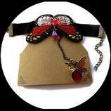 Bracelet bague papillon rouge style Lolita BRA005