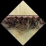 Dentelle marron élastique volant sequins 3 cm vendue au mètre DEN018