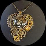 """Collier steampunk pendentif """" voyage à Venise """" fait main"""