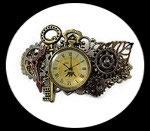 """bracelet steampunk """" Voyage à Paris """" fait main, modèle unique"""