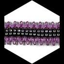 Galon lurex rose/mauve et noir, strass  3.5 cm GAL076