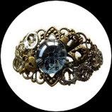 Bracelet style steampunk fait main coeur, menottes, livre
