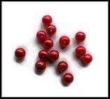 Perles nacrées rouge 8 mm, lot de 15 perles PER230.