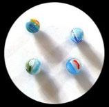 Perles verre mêlé 10 mm. Lot de 4 perles. PER254