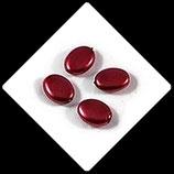 Palet ovale nacré 12 x 9 mm rouge X 4 perles palets Réf : 710