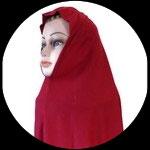Cagoule ou hijab adulte rouge bordeaux pour costume CAG017