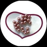 Lot 20 perles nacrées rose poudré clair 8 mm pour création de bijoux Réf 1512.