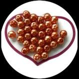 lot de 15 perles nacrées orange 10 mm création bijoux Réf : 1536