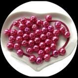 lot de 25 perles de verre nacrées roses 10 mm création bijoux Réf : 1547