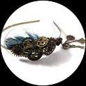 Serre tête bijoux de cheveux steampunk montres et engrenages SERSTE 01