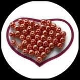 lot de 27 perles nacrées orange 8 mm création bijoux Réf : 1534