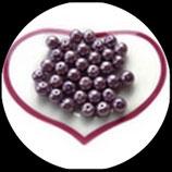 lot de 35 perles nacrées mauve  8 mm création bijoux Réf : 1544