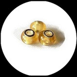 Perle style pandora ®  14 x 9 mm jaune transparent Réf : 232