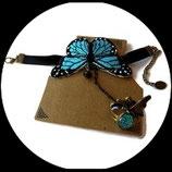 Bracelet bague papillon turquoise style Lolita BRA004