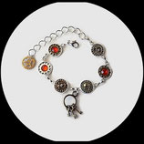 Bracelet steampunk engrenages et strass