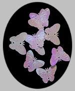 sequins papillons grand modèle blanc irisé 2.2X3 cm lot de 10 EMBM001